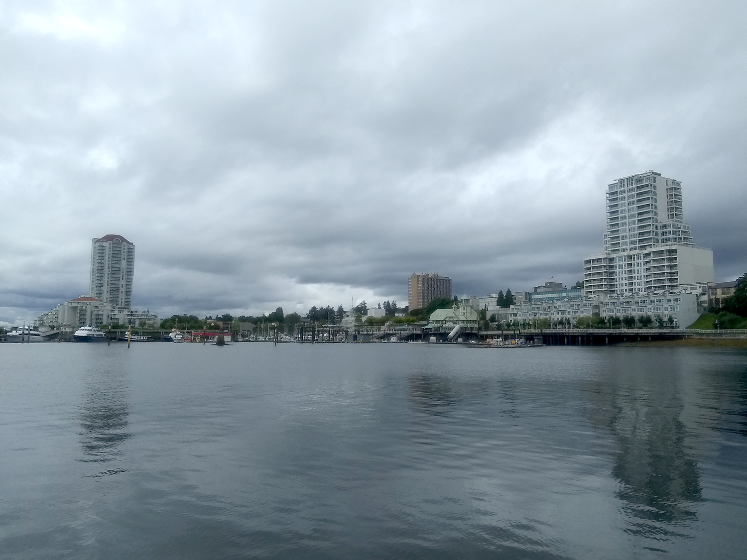 ocean view with high rise buildings in vancouver