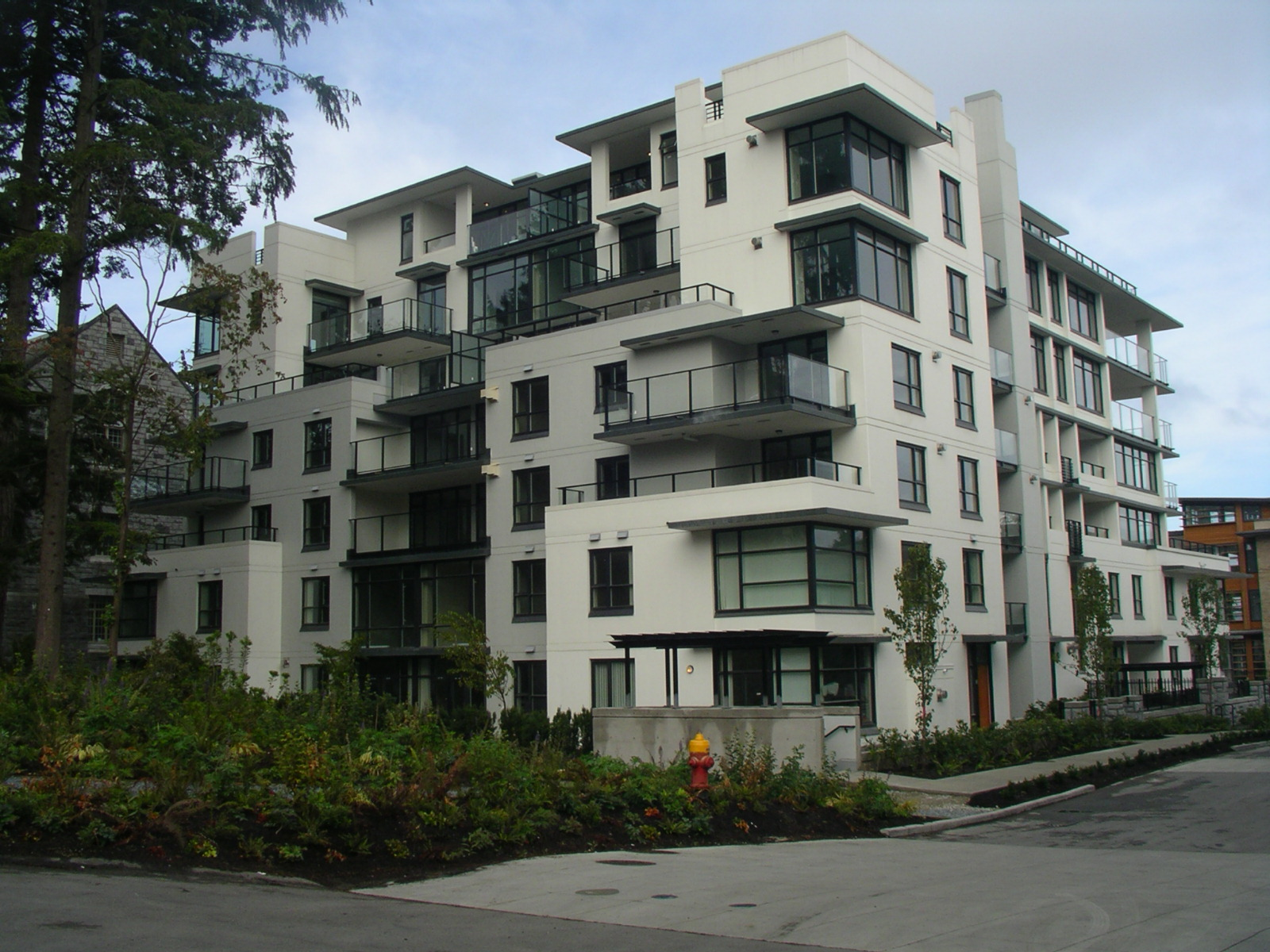 affordable housing in nanaimo city showing a building from a far