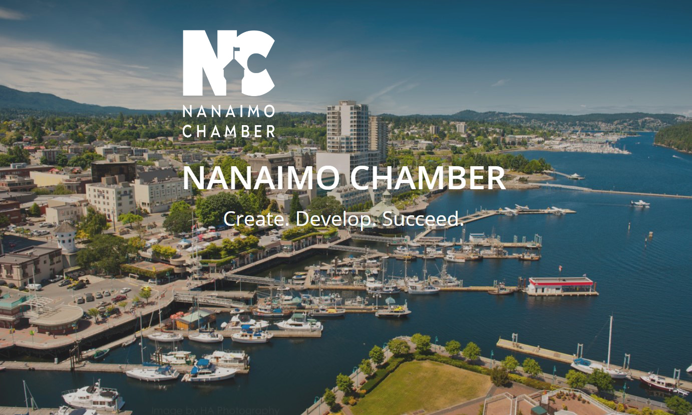 Nanaimo chamber of commerce logo on the website